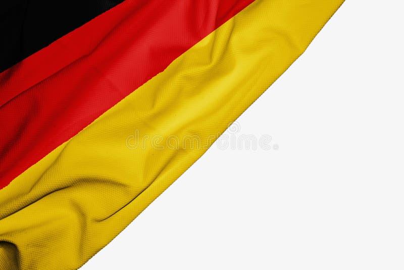 织品德国旗子与copyspace的您的在白色背景的文本的 向量例证