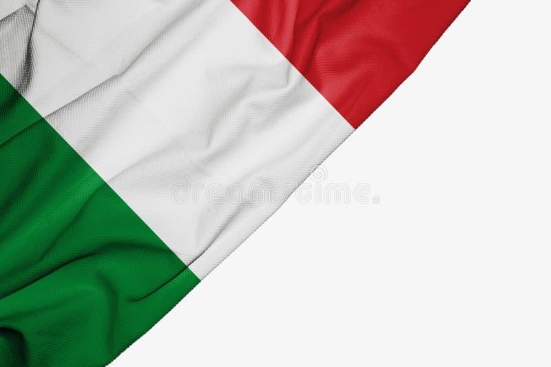 织品意大利旗子与copyspace的您的在白色背景的文本的 向量例证