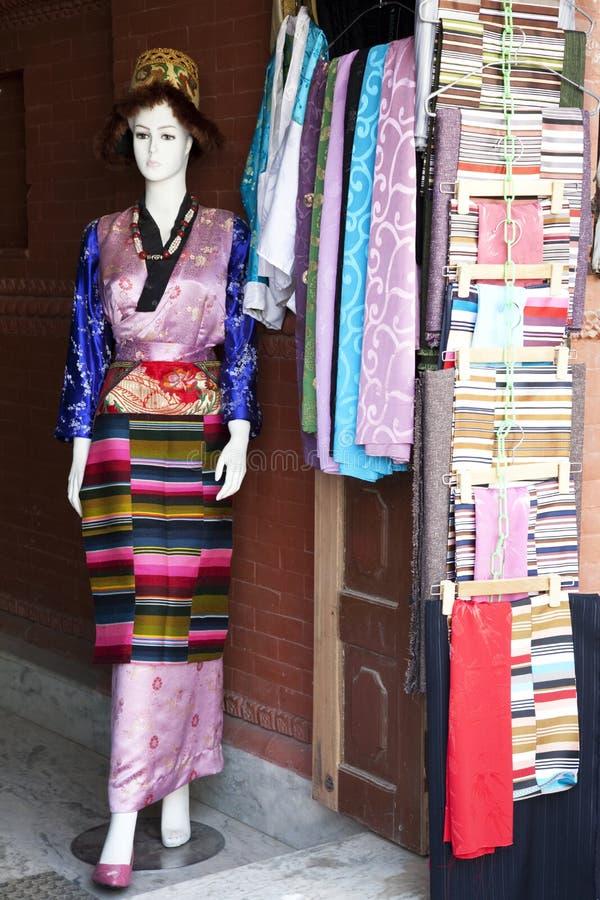 织品方式尼泊尔 免版税库存照片
