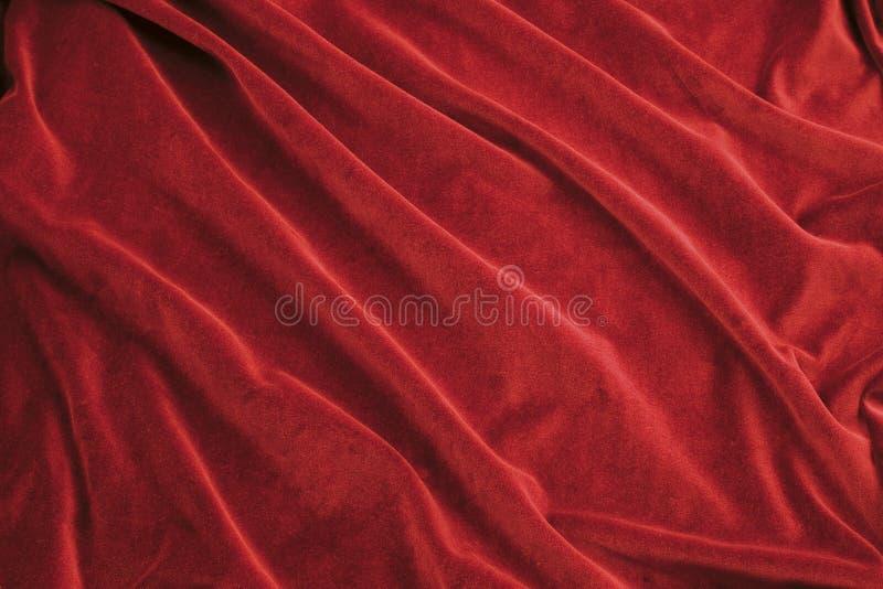 织品红色天鹅绒 库存照片