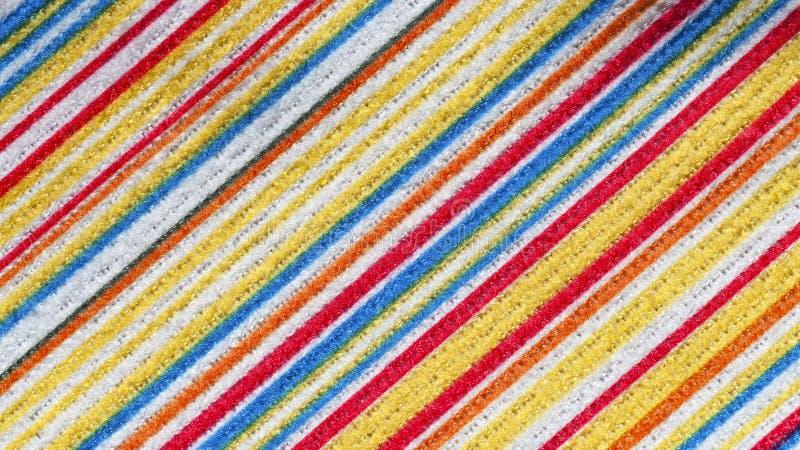 织品纹理与五颜六色的样式对角线线的 免版税库存照片