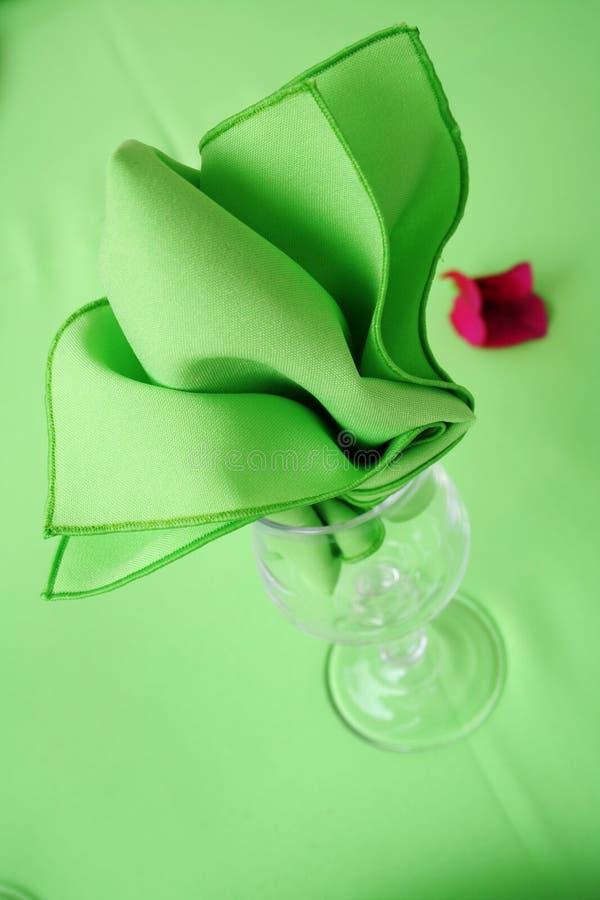 织品绿色餐巾 免版税库存图片