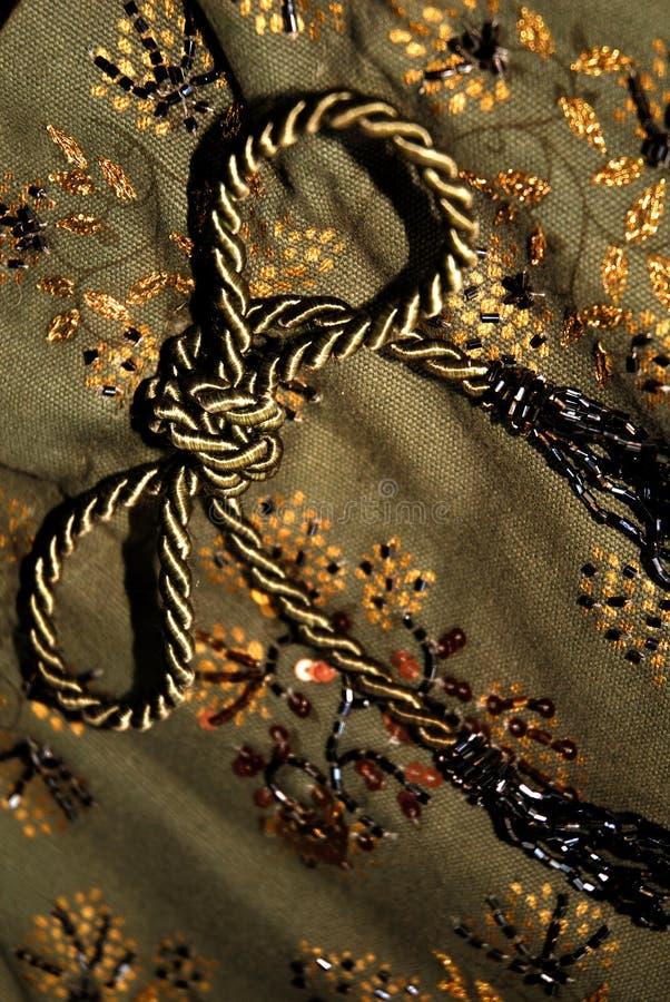 织品花卉绿色 免版税图库摄影