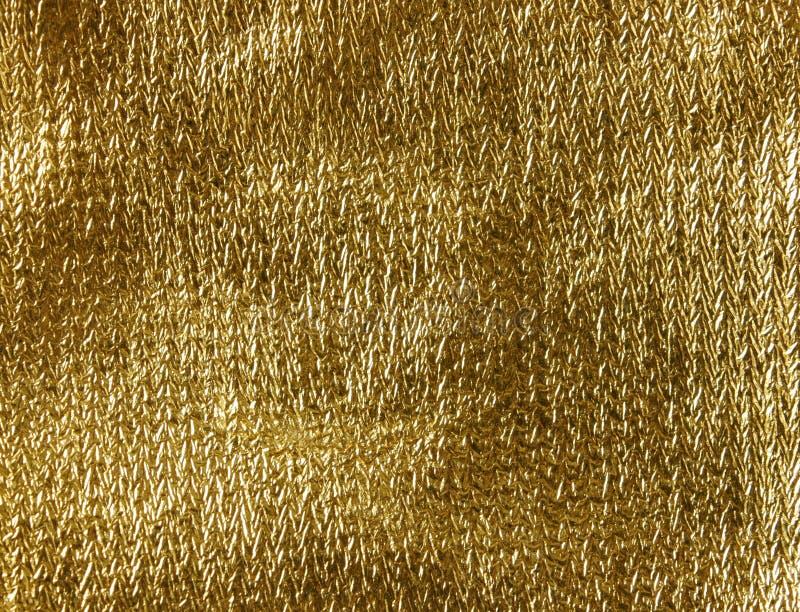 织品金子纹理 皇族释放例证