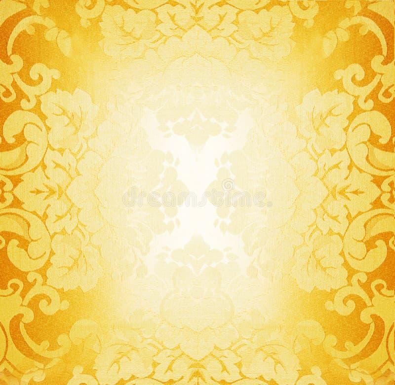 织品金黄模式 库存照片