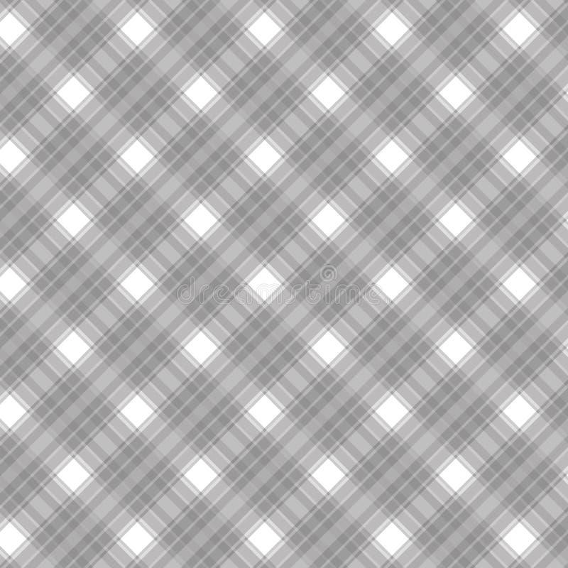 织地不很细格子花呢披肩织品仿造无缝 向量例证