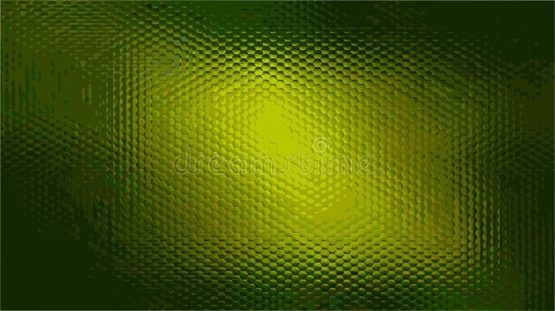 织地不很细绿色发光的凸面背景 向量例证
