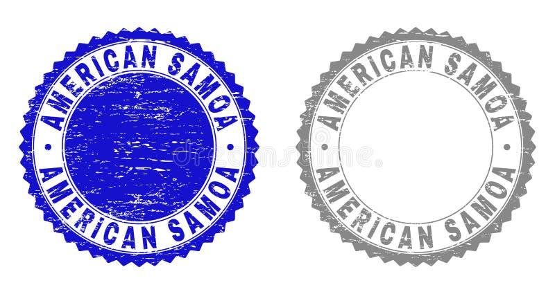 织地不很细美属萨摩亚难看的东西邮票封印 向量例证