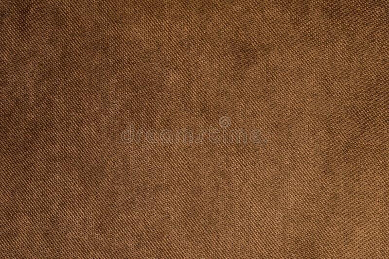 织地不很细背景大棕色纺织品 织物特写镜头纹理  免版税库存图片