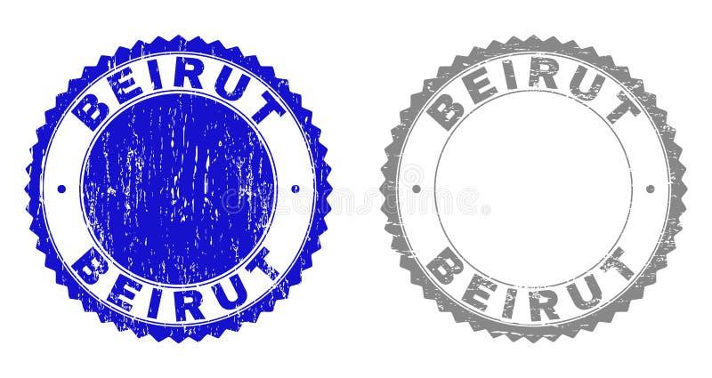 织地不很细贝鲁特难看的东西邮票 库存例证