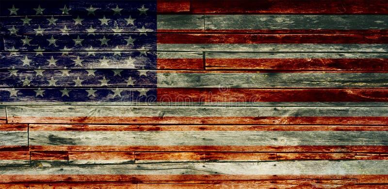 织地不很细退色的美国国旗 皇族释放例证