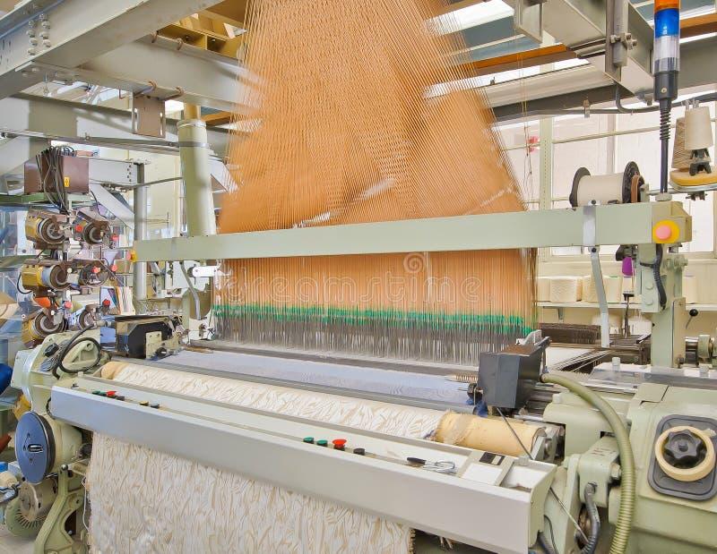 织布机现代编织 库存图片