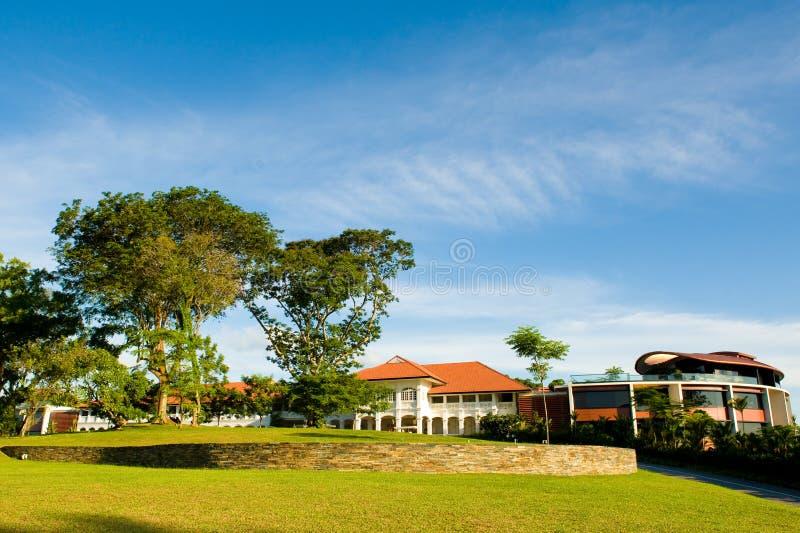 织花布头旅馆新加坡 免版税库存图片