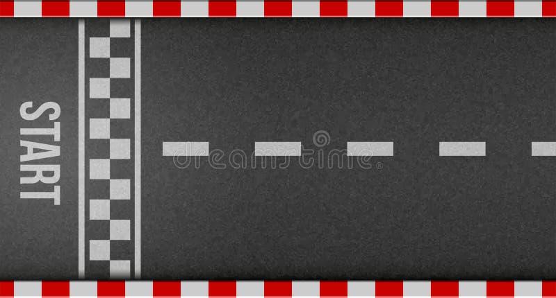 终点线赛跑的背景顶视图的创造性的例证 艺术设计 开始或完成在kart种族 被构造的难看的东西 皇族释放例证