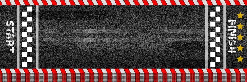 终点线赛跑的背景顶视图的创造性的例证 艺术设计 开始或完成在kart种族 被构造的难看的东西 库存例证