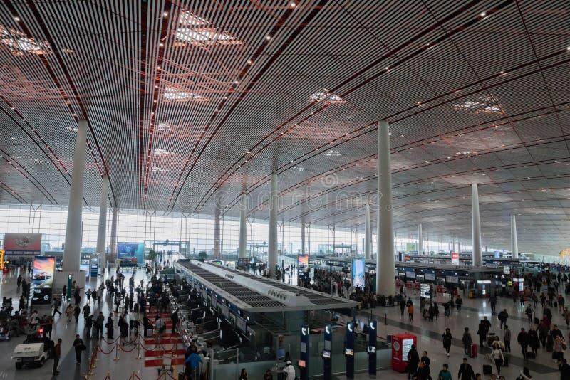终端在北京首都国际机场在中国 库存图片