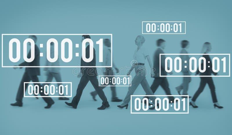 终身秒表管理期间读秒概念 免版税库存照片