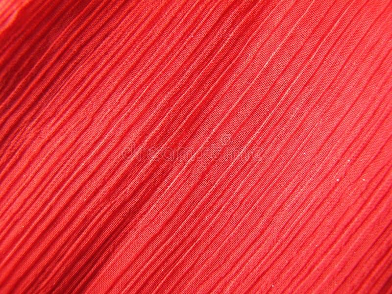 绉纱织品红色 免版税库存照片