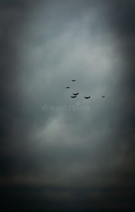 绍森德,艾塞克斯/英国- 6月,5,2019 -攻击开始日空中分列式 图库摄影
