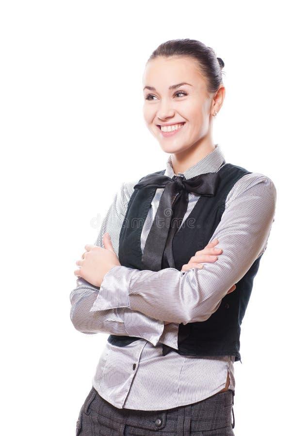 经典之作给妇女穿衣 免版税库存照片