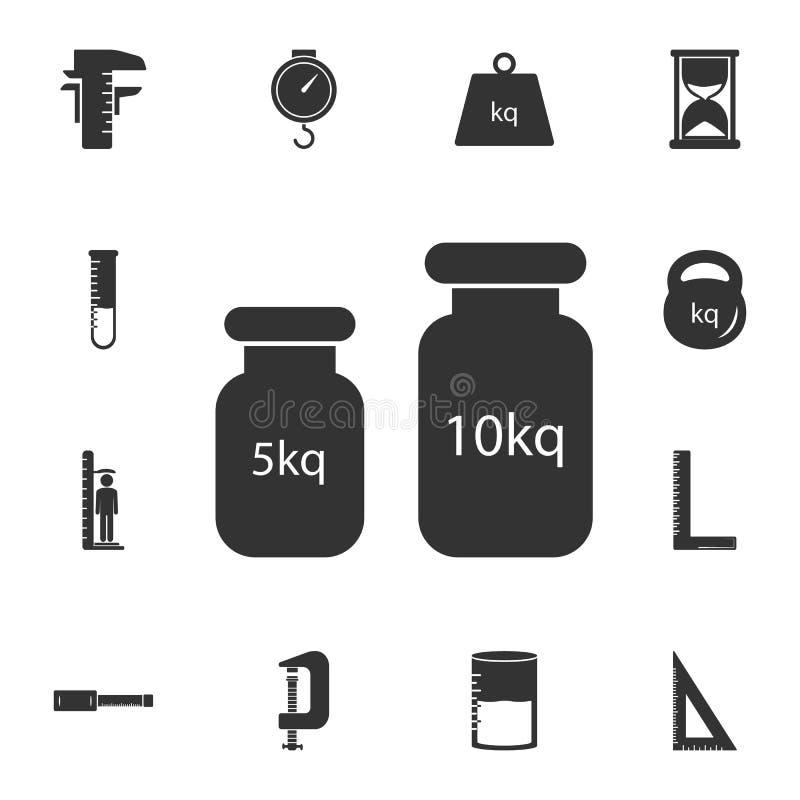 经典之作衡量象 简单的元素例证 经典之作重量从测量的汇集集合的标志设计 能用于网 向量例证