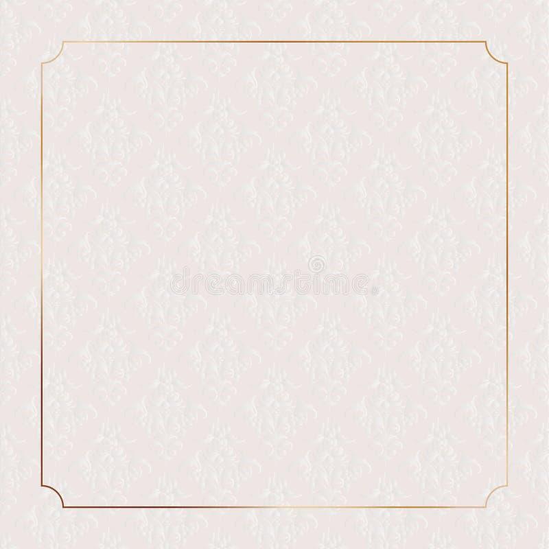 经典之作装饰高尚的墙纸框架 库存例证