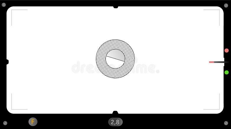 经典全景照相机反光镜,相框,有您的pics的自由空间的,传染媒介 皇族释放例证