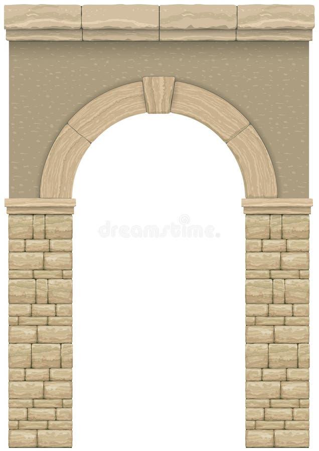 经典古色古香的曲拱1 向量例证