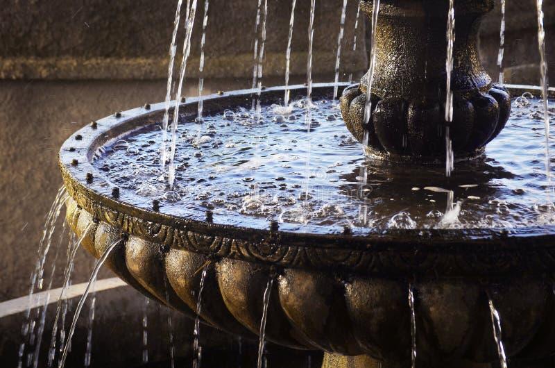 经典喷泉 库存图片