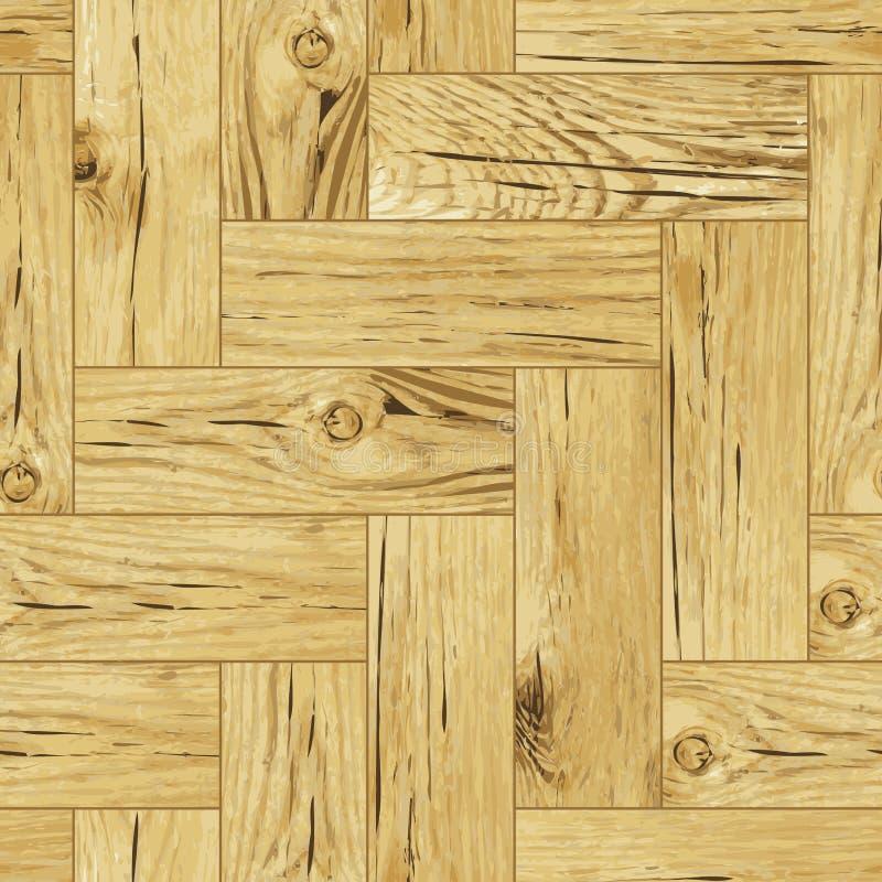 经典地板木条地板无缝的纹理向量 向量例证