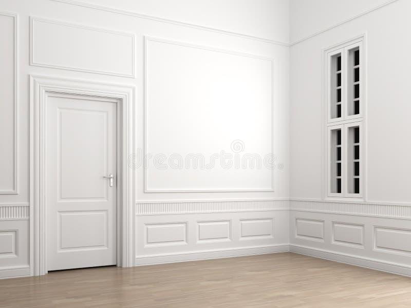 经典壁角空的内部空间 免版税库存图片