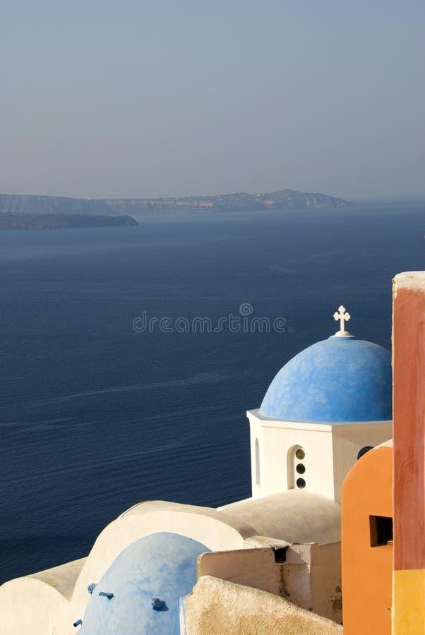 经典希腊海岛santorini 免版税库存图片