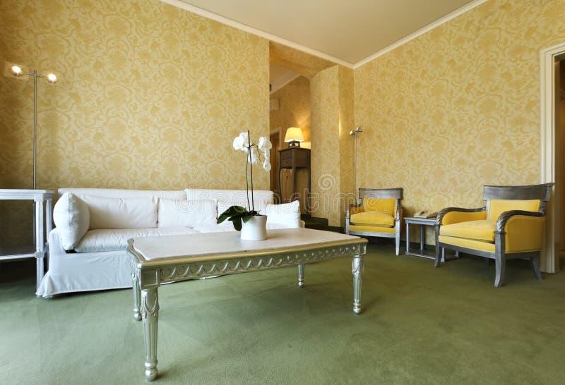 经典方便的客厅 库存图片