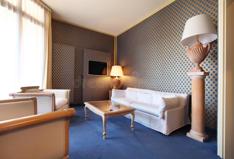 经典方便的客厅 免版税图库摄影