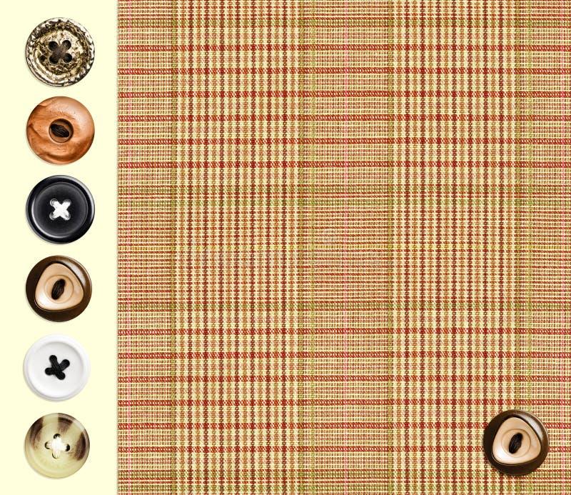经典方格的纺织品 免版税库存图片