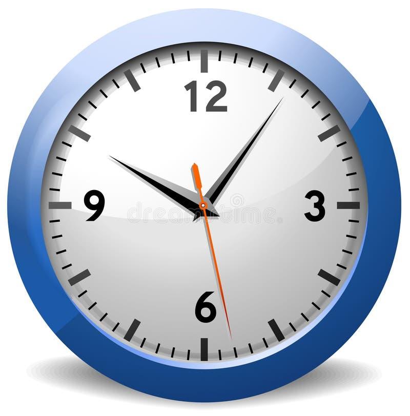 经典时钟办公室 库存例证
