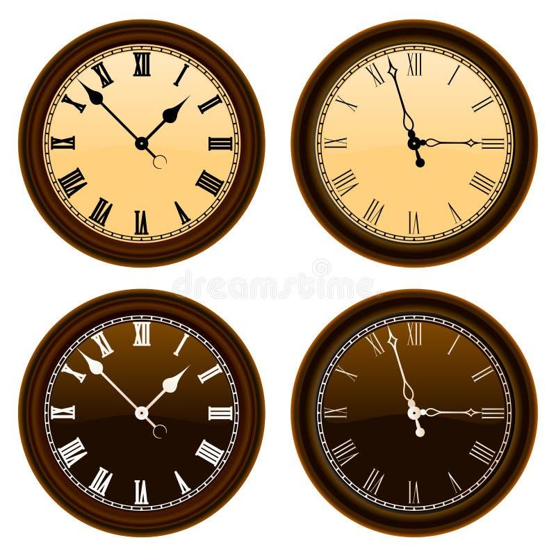 经典时钟向量墙壁 向量例证