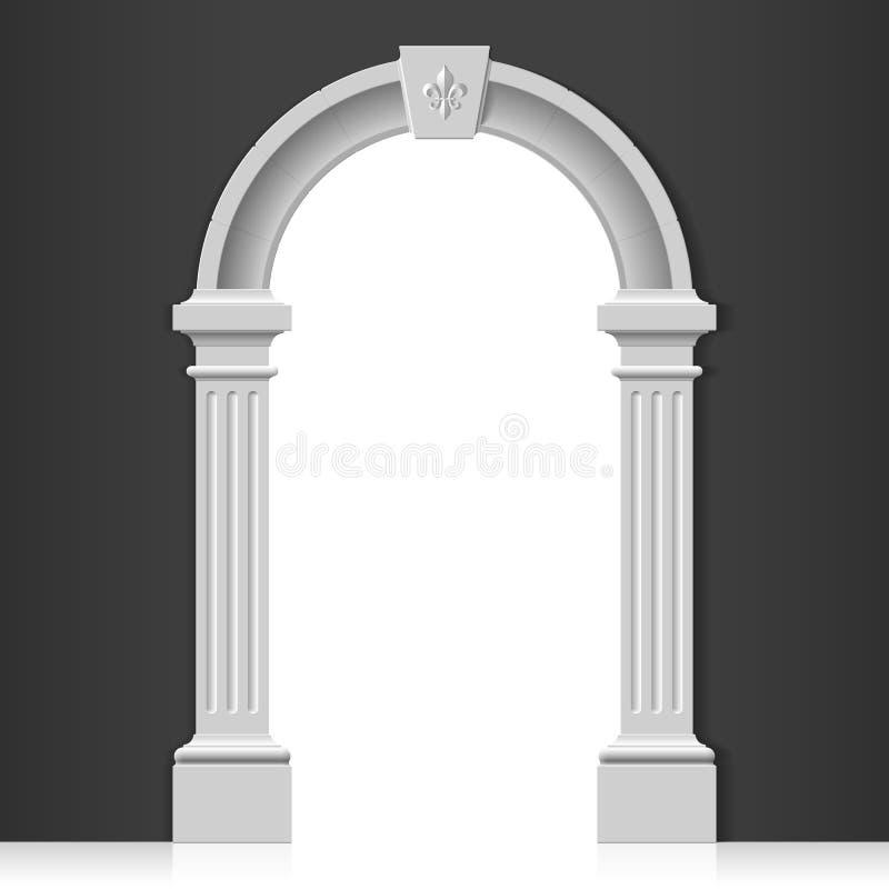 经典曲拱 皇族释放例证