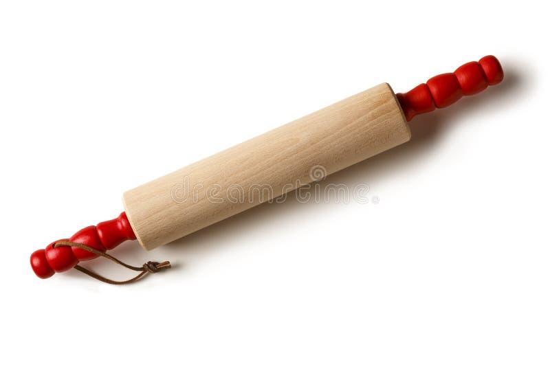 经典木木滚针厨房用工具加工对象 免版税库存照片