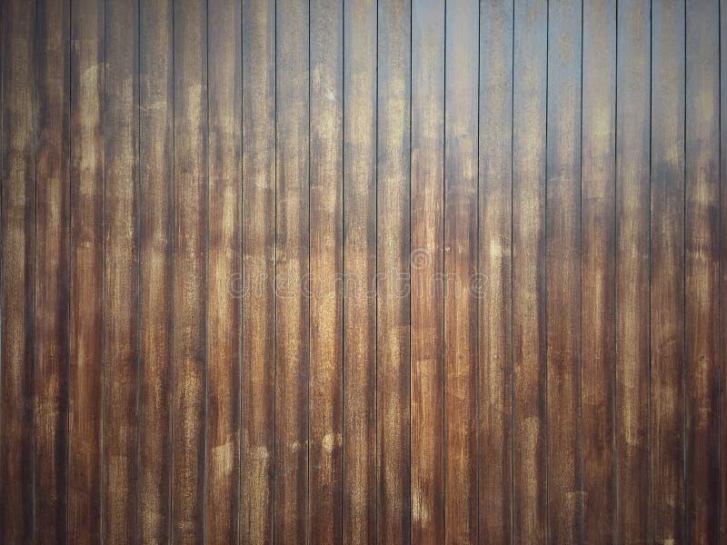 经典棕色木板条背景 老土气木墙壁样式纹理 库存图片