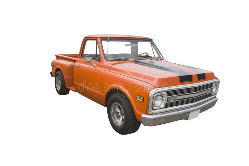 经典橙色卡车 免版税库存照片