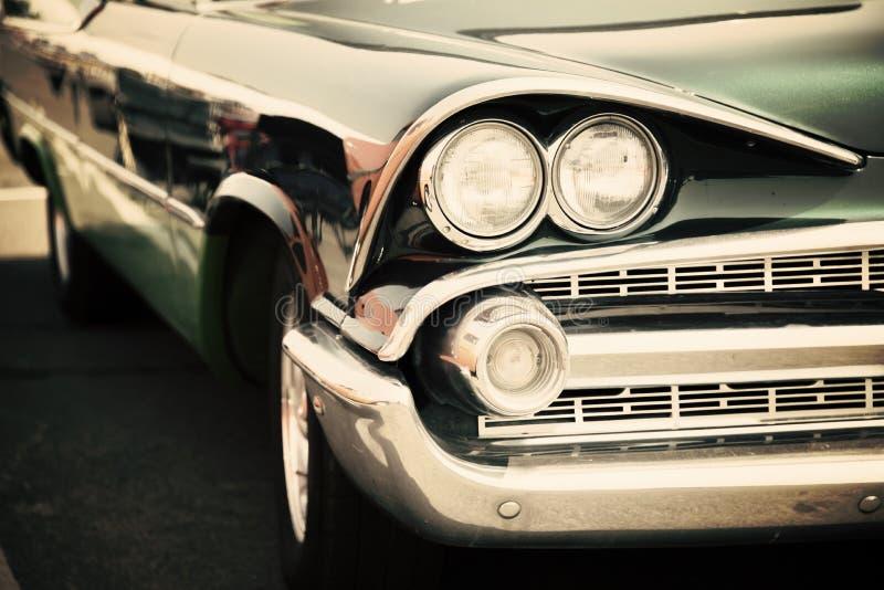 经典汽车街道显示 免版税库存照片
