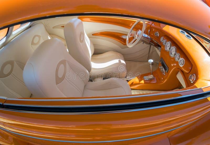 经典汽车,极端内部 库存图片