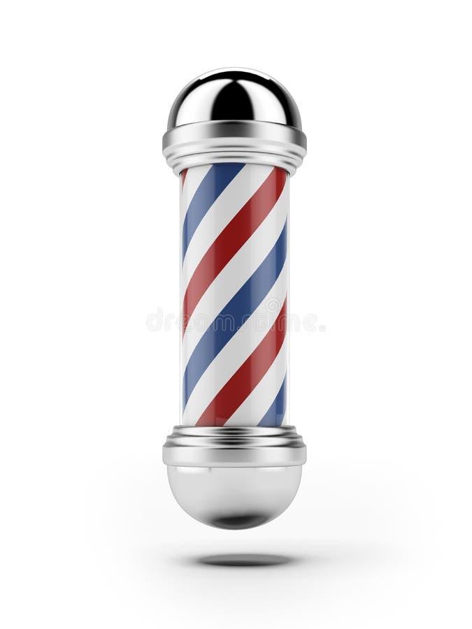 经典理发店杆 向量例证