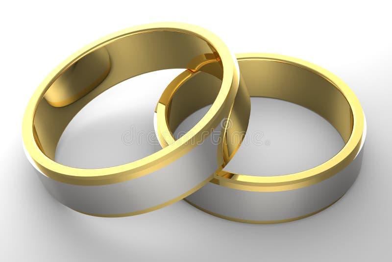 经典的婚戒 向量例证