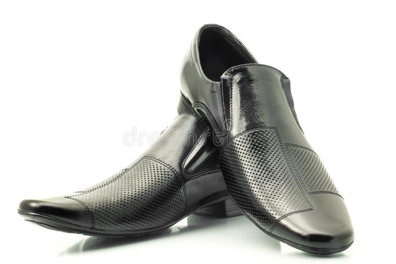 经典皮革人专利s鞋子 免版税库存图片