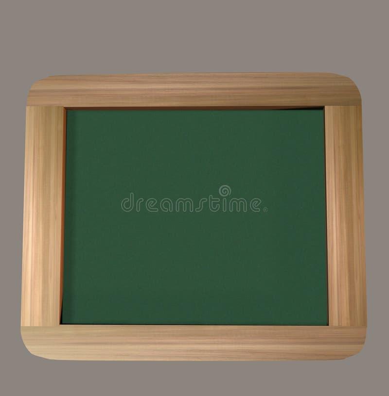 经典绿色黑板3D回报 库存图片