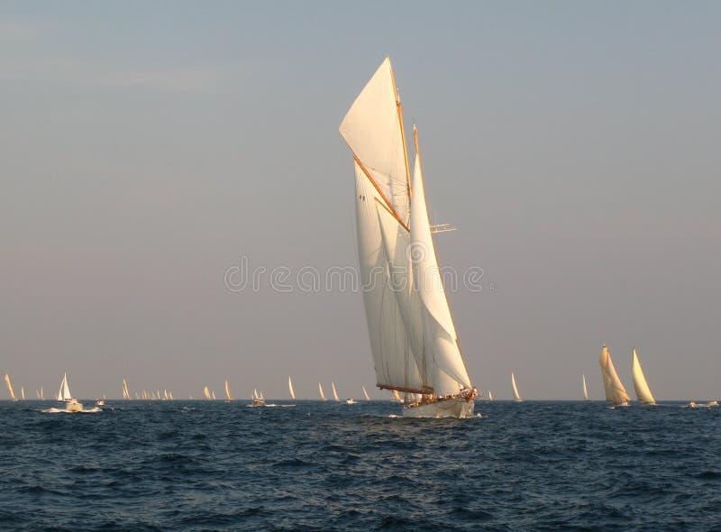 经典航行游艇 免版税图库摄影