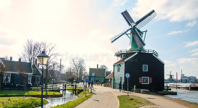 经典荷兰房子 库存照片