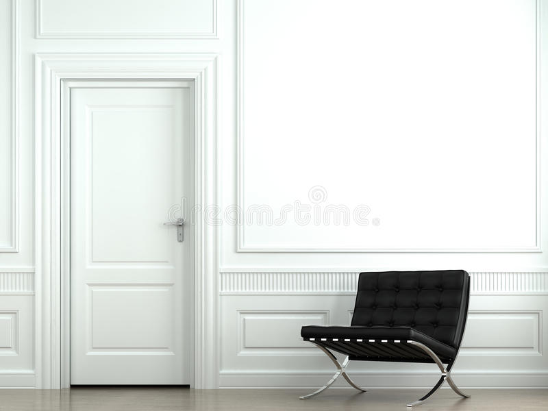 经典设计内墙 库存照片